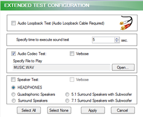 Audio / Sound - Testing Description - QuickTech Windows Hardware